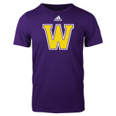Adidas Purple Logo T Shirt-W