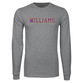 Grey Long Sleeve T Shirt-Primary Mark - Athletics