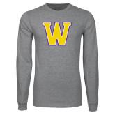 Grey Long Sleeve T Shirt-W