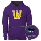 Contemporary Sofspun Purple Hoodie-W