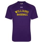 Under Armour Purple Tech Tee-Baseball