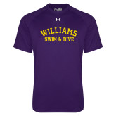 Under Armour Purple Tech Tee-Swim and Dive