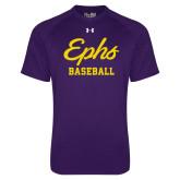 Under Armour Purple Tech Tee-Ephs Baseball