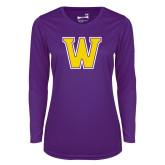 Ladies Syntrel Performance Purple Longsleeve Shirt-W