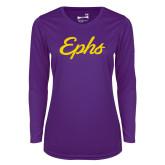Ladies Syntrel Performance Purple Longsleeve Shirt-Ephs