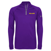 Under Armour Purple Tech 1/4 Zip Performance Shirt-Primary Mark - Athletics