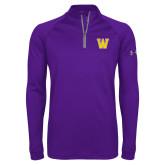 Under Armour Purple Tech 1/4 Zip Performance Shirt-W