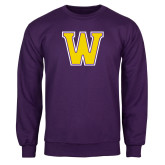 Purple Fleece Crew-W