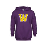 Youth Purple Fleece Hoodie-W