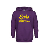 Youth Purple Fleece Hoodie-Ephs Basketball