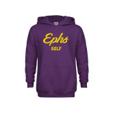 Youth Purple Fleece Hoodie-Ephs Golf