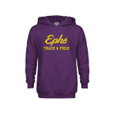 Youth Purple Fleece Hoodie-Ephs Track and Field