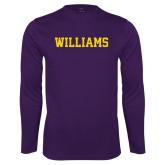 Performance Purple Longsleeve Shirt-Primary Mark - Athletics