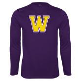 Performance Purple Longsleeve Shirt-W