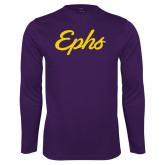 Performance Purple Longsleeve Shirt-Ephs