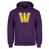 Purple Fleece Hoodie-W