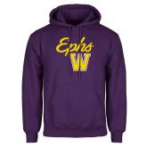 Purple Fleece Hoodie-Ephs w/ W