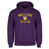 Purple Fleece Hoodie-Williams College w/ W