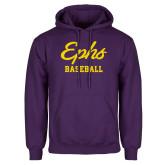Purple Fleece Hoodie-Ephs Baseball
