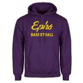 Purple Fleece Hoodie-Ephs Basketball