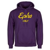 Purple Fleece Hoodie-Ephs Golf
