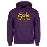 Purple Fleece Hoodie-Ephs Track and Field