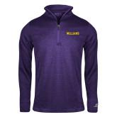 Russell Purple Heather 1/4 Zip-Primary Mark - Athletics