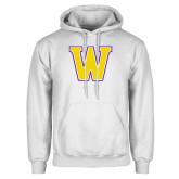 White Fleece Hoodie-W