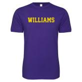 Next Level SoftStyle Purple T Shirt-Primary Mark - Athletics