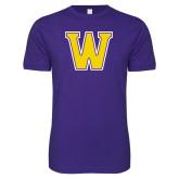 Next Level SoftStyle Purple T Shirt-W