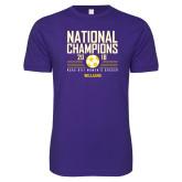Next Level SoftStyle Purple T Shirt-2018 NCAA DIII National Champions