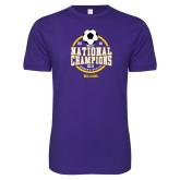 Next Level SoftStyle Purple T Shirt-NCAA DIII National Champions