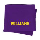 Purple Sweatshirt Blanket-Primary Mark - Athletics
