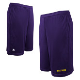 Russell Performance Purple 10 Inch Short w/Pockets-Primary Mark - Athletics