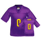 Wiley Youth Replica Purple Football Jersey-Personalized