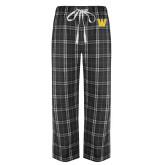 Black/Grey Flannel Pajama Pant-W