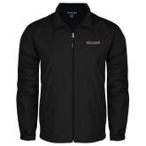 Full Zip Black Wind Jacket-Primary Mark - Athletics