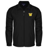Full Zip Black Wind Jacket-W