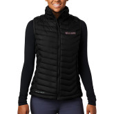 Columbia Lake 22 Ladies Black Vest-Primary Mark - Athletics