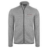 Grey Heather Fleece Jacket-Primary Mark - Athletics