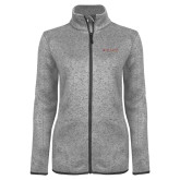 Grey Heather Ladies Fleece Jacket-Primary Mark - Athletics