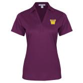 Ladies Purple Performance Fine Jacquard Polo-W