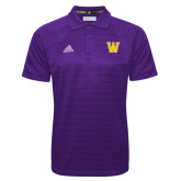 Adidas Climalite Purple Jacquard Select Polo-W