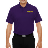 Under Armour Purple Performance Polo-Primary Mark - Athletics
