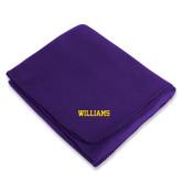 Purple Arctic Fleece Blanket-Primary Mark - Athletics