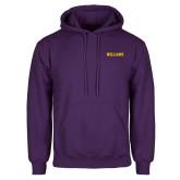 Purple Fleece Hoodie-Primary Mark - Athletics