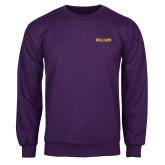 Purple Fleece Crew-Primary Mark - Athletics