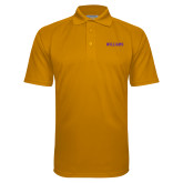 Gold Textured Saddle Shoulder Polo-Primary Mark - Athletics