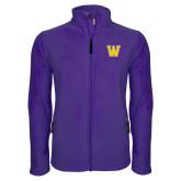Fleece Full Zip Purple Jacket-W
