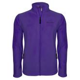 Fleece Full Zip Purple Jacket-Primary Mark - Athletics